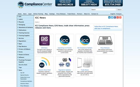 Screenshot of Press Page thecompliancecenter.com - News | ICC - captured Jan. 30, 2018
