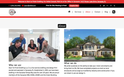 Screenshot of About Page starttofinishdrafting.com - About | Florida #1 Drafting and Design Firm | Start to Finish Drafting - captured Sept. 21, 2018