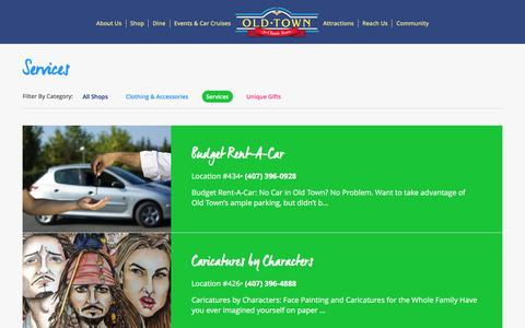 Screenshot of Services Page myoldtownusa.com - Personal Services | Old Town USA - captured Dec. 23, 2016