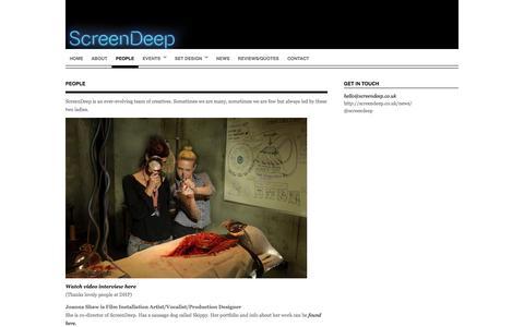 Screenshot of Team Page screendeep.co.uk - People   screendeep - captured Sept. 30, 2014
