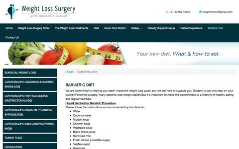 Bariatric byepass Diet Guidelines