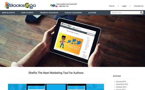 Screenshot of Blog ebooks2go.net - eBooks2go Blogs: eBook Publishing and Distribution For Authors and Publishers - captured Jan. 24, 2016