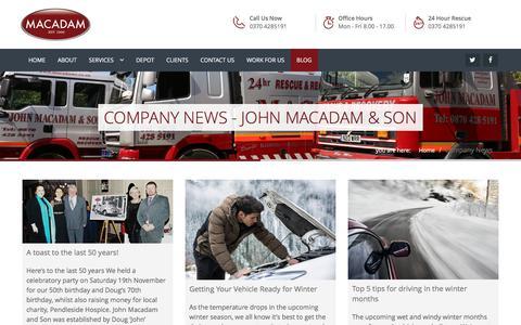 Screenshot of Blog macadams.co.uk - Company News - John Macadam & son - captured Nov. 27, 2016