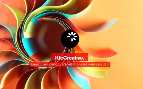 Screenshot of Home Page kfecreative.com - KfeCreative | Diseño Web, Diseño Gráfico y Márketing B2B | Barcelona - captured June 9, 2017