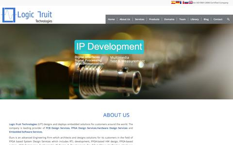Screenshot of Home Page logic-fruit.com - Logic-Fruit - A Product Engineering Company - captured Aug. 27, 2017
