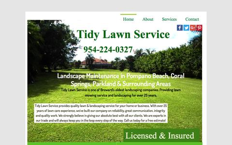 Screenshot of Home Page tidylawnservice.com - Tidy Lawn Service - Landscape Maintenance, Lawn Service, Landscaping Companies - captured Nov. 27, 2016