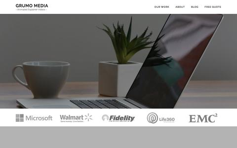Screenshot of Home Page grumomedia.com - Animated Video and Explainer Video Production - Grumo Media - captured June 15, 2017