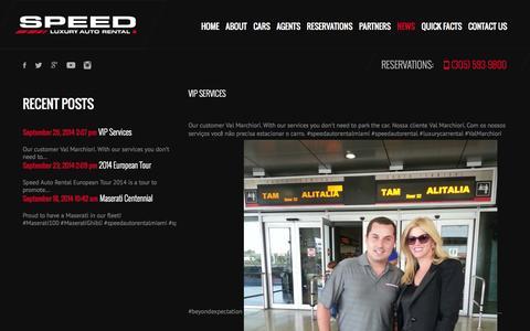 Screenshot of Press Page speedautorental.com - Speed Luxury Auto Rental | Speed Luxury Auto Rental - captured Sept. 30, 2014