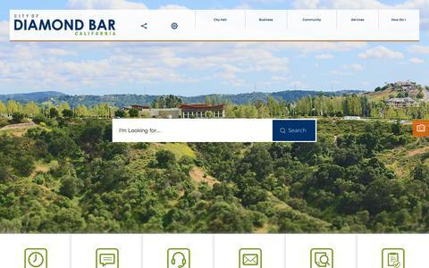 Screenshot of Home Page diamondbarca.gov - Diamond Bar, CA   Official Website - captured Feb. 16, 2018