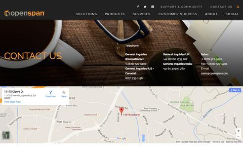 Screenshot of Contact Page openspan.com - Contact Us - OpenSpan - captured Nov. 23, 2015