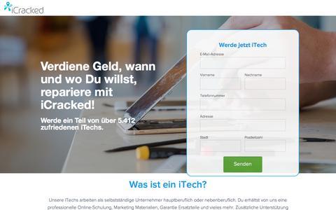 Screenshot of Landing Page icracked.com - Werde jetzt iTech - captured Aug. 17, 2016