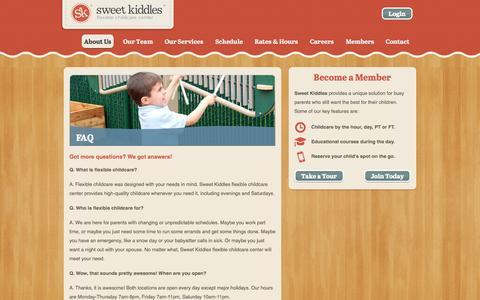 Screenshot of FAQ Page sweetkiddles.com - FAQ - Sweet Kiddles - captured Oct. 6, 2014