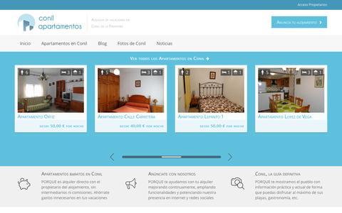 Screenshot of Home Page conilapartamentos.es - Apartamentos en Conil. Alquiler de vacaciones. Conil Apartamentos - captured Sept. 23, 2014
