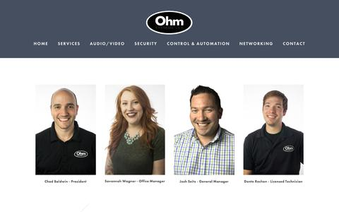 Screenshot of Team Page ohmsys.com - Team — Ohm Systems - captured Feb. 16, 2016