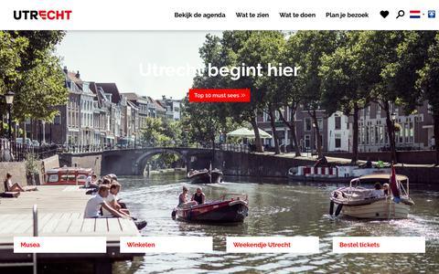 Screenshot of Home Page bezoek-utrecht.nl - Home | Bezoek Utrecht - captured Sept. 22, 2017