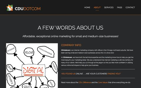 Screenshot of About Page cdudotcom.com - About CDUdotcom - Internet Marketing - SEO Chicago IL | Web Design SEO - Chicago | Google AdWords Chicago IL | Reputation Management Chicago IL - captured July 14, 2018