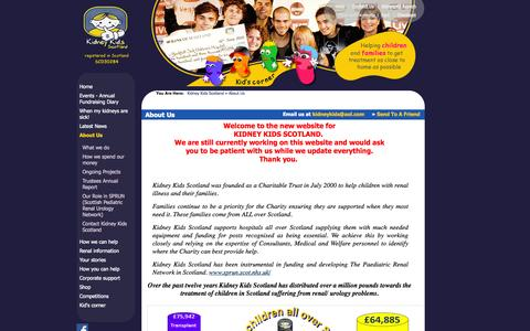 Screenshot of About Page kidneykids.org.uk - About Us > 			Kidney Kids Scotland > 		Kidney Kids Scotland - captured Oct. 6, 2014