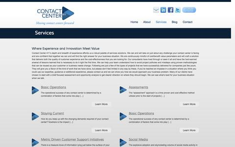 Screenshot of Services Page contactcenter411.com - Contact Center Consulting Services | Contact Center 411 - captured Oct. 10, 2014
