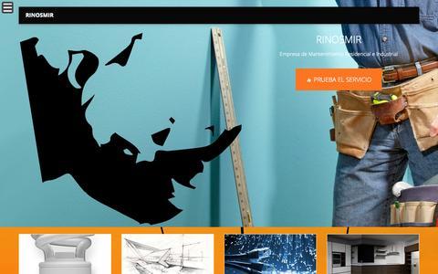 Screenshot of Home Page rinosmir.com - RINOSMIR » MANTENIMIENTO EMPRESARIAL - captured Sept. 30, 2014