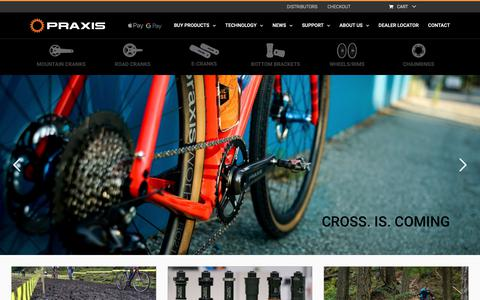 Screenshot of Home Page praxiscycles.com - PRAXIS WORKS | Bicycle Components for riders like you. - captured Sept. 28, 2018