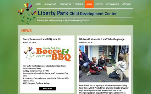 Screenshot of Press Page libertyparkkids.org - liberty-park-kids | NEWS - captured Nov. 7, 2016