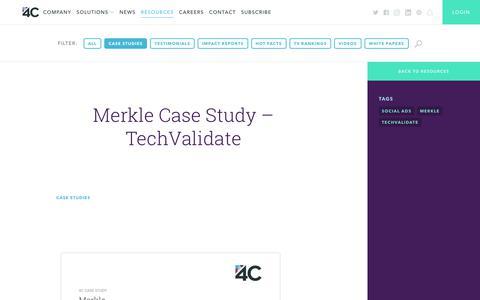 Screenshot of Case Studies Page 4cinsights.com - Case Study | 4C - captured March 10, 2018