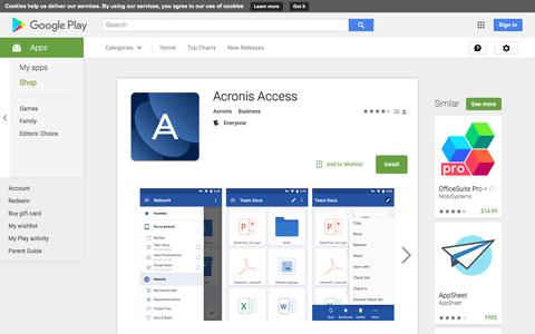 Acronis Access - Android Apps on Google Play