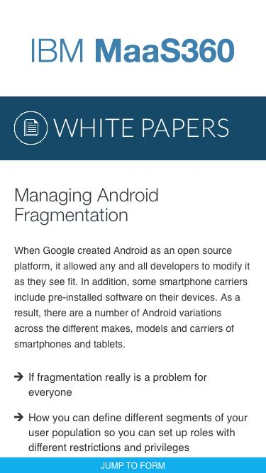 Managing Android Fragmentation