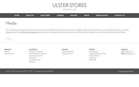 Screenshot of Press Page ustores.com - Media | Ulster Stores Ltd - captured Oct. 18, 2017