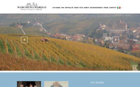 Screenshot of Home Page marchesibarolo.com - Home - Marchesi di Barolo Spa - Antiche cantine in Barolo - captured Nov. 27, 2016