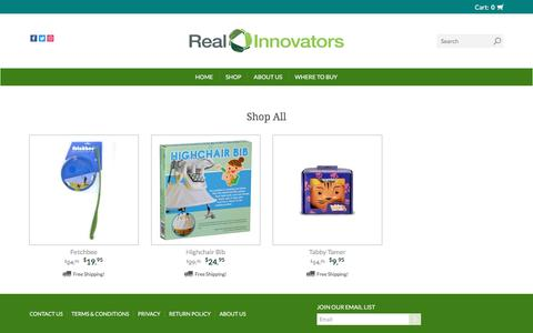 Screenshot of Products Page realinnovators.com - Products | Real Innovators - captured Dec. 6, 2016