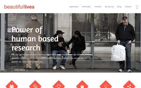 Screenshot of Home Page beautifullives.com - Home - Beautiful Lives - captured Dec. 30, 2015