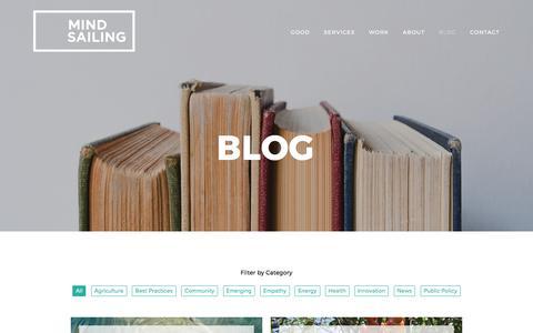 Screenshot of Blog mindsailing.com - BLOG — Mindsailing - captured Nov. 4, 2017