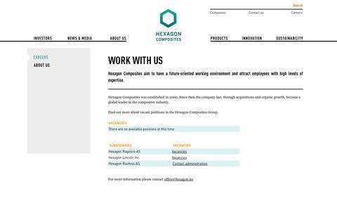 Screenshot of Jobs Page hexagon.no - Work with us - Hexagon - captured Oct. 2, 2014