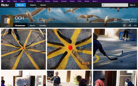 Screenshot of Flickr Page flickr.com - Flickr: OCH71's Photostream - captured Oct. 26, 2014