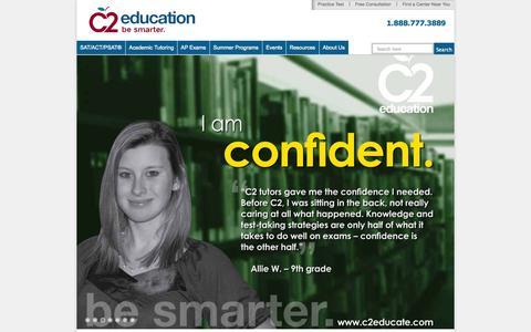 Screenshot of Testimonials Page c2educate.com - C2 Education Testimonials - captured Sept. 24, 2014
