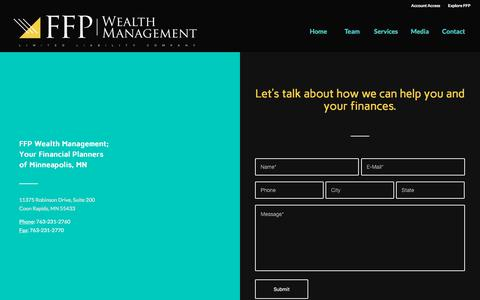 Screenshot of Contact Page ffpwealthmanagement.com - Contact Your FFP Wealth Management Financial Planner Minneapolis MN - captured Aug. 9, 2018