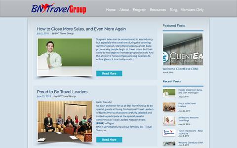 Screenshot of Blog bntagents.com - Free Host Travel Agency Travel Blog - captured July 10, 2018