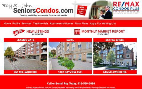 Screenshot of Home Page seniorscondos.com - Seniors Condos - captured Nov. 10, 2018