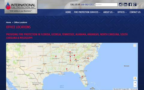 Screenshot of Locations Page candoifp.com - Office Locations | International Fire Protection - captured Oct. 15, 2017
