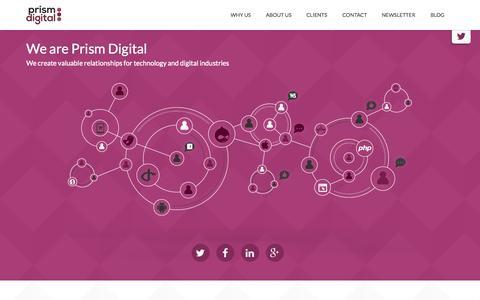 Screenshot of Home Page prism-digital.com - Prism Digital - captured Sept. 5, 2015