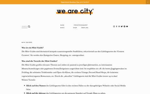 Screenshot of FAQ Page wearecity.de - FAQ. — WE ARE CITY - captured Sept. 22, 2018