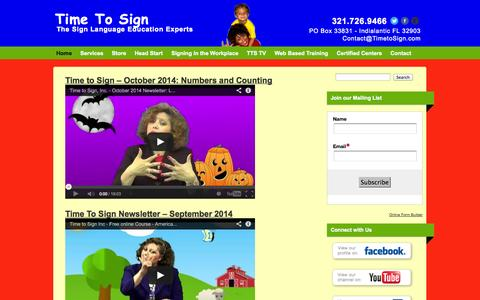 Screenshot of Blog timetosign.com - Blog | Time To Sign - captured Oct. 9, 2014