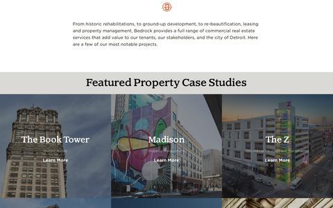 Screenshot of Case Studies Page bedrockdetroit.com - Bedrock - Case Studies - captured Oct. 24, 2018