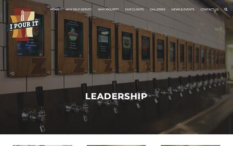 Screenshot of Team Page ipouritinc.com - Leadership - iPourIt, inc. - captured July 13, 2018