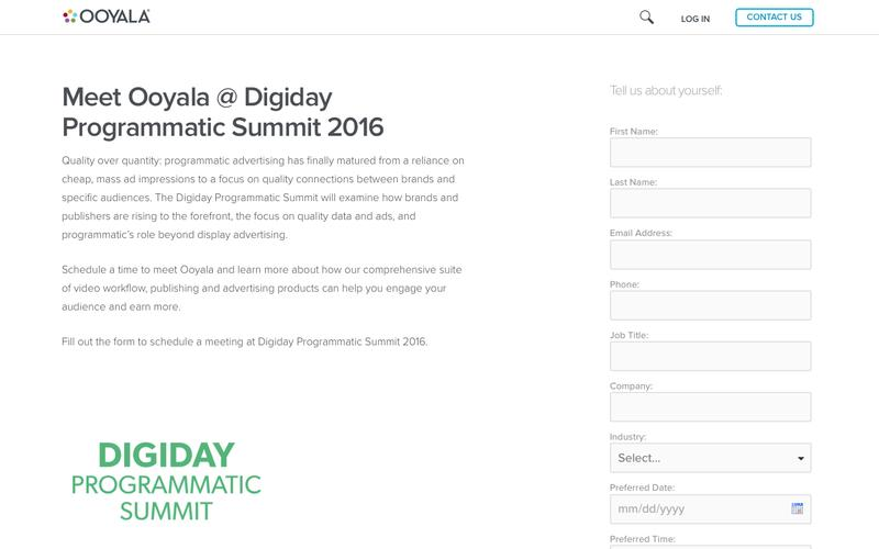 Meet Ooyala at Digiday Programmatic Summit