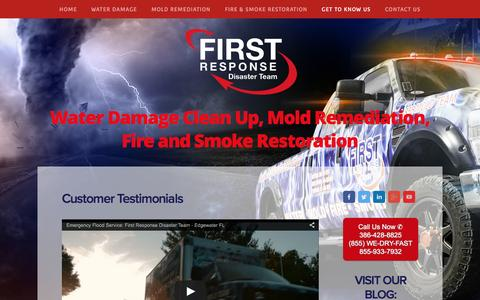 Screenshot of Testimonials Page thedisasterteam.com - Testimonials — Emergency Flood and Water Clean Up Company Volusia County FL. - captured Feb. 10, 2016
