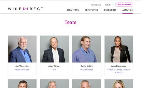 Screenshot of Team Page winedirect.com - Meet The Leadership Team | WineDirect - captured Dec. 12, 2018