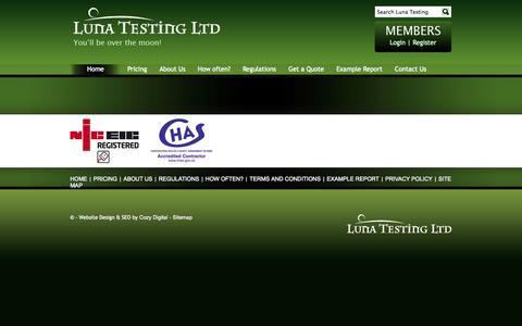 Screenshot of Site Map Page lunatestingltd.co.uk - Luna Testing Ltd - captured Sept. 30, 2014