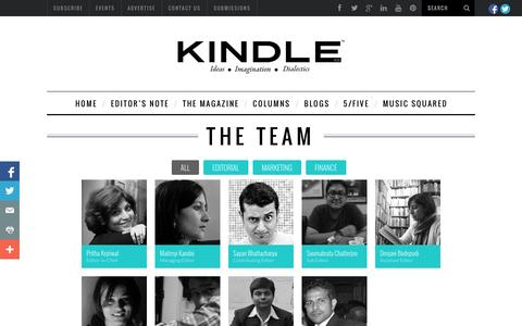 Screenshot of Team Page kindlemag.in - kindle magazine team - captured Oct. 1, 2014